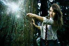 Het meisje van de tovenaar Royalty-vrije Stock Afbeelding