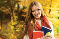 Het Meisje van de universiteit Stock Foto's