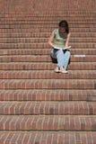 Het meisje van de universiteit Stock Foto