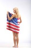 Het meisje van de V.S. stock afbeelding