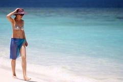 Het meisje van de vakantie Stock Afbeeldingen