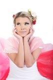 Het meisje van de valentijnskaart Royalty-vrije Stock Afbeeldingen