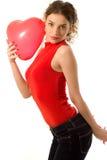 Het meisje van de valentijnskaart stock afbeelding