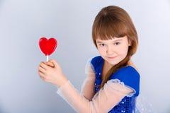 Het meisje van de valentijnskaartendag Stock Afbeelding