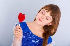 Het meisje van de valentijnskaartendag Royalty-vrije Stock Foto's