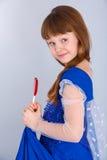 Het meisje van de valentijnskaartendag Stock Foto