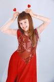 Het meisje van de valentijnskaartendag Royalty-vrije Stock Foto