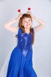 Het meisje van de valentijnskaartendag Stock Foto's