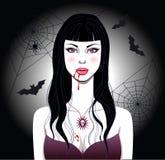 Het meisje van de vampier Stock Afbeelding