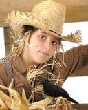 Het Meisje van de vogelverschrikker Royalty-vrije Stock Foto's