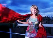 Het meisje van de wind Stock Afbeeldingen