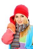 Het meisje van de winter stock fotografie