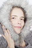 Het meisje van de winter Stock Foto