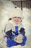 Het meisje van de winter Stock Afbeelding