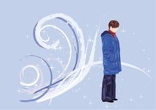 Het meisje van de winter Vector Illustratie