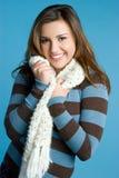 Het Meisje van de Winter van de sjaal Royalty-vrije Stock Afbeelding