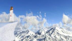 Het Meisje van de de wintersneeuw, Hoop, Aard, Vrede Royalty-vrije Stock Afbeelding