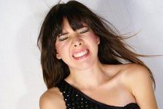 Het meisje van de woedeaanval stock foto