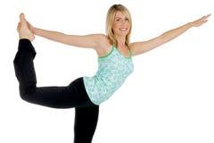 Het Meisje van de yoga royalty-vrije stock afbeeldingen