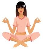Het meisje van de yoga vector illustratie