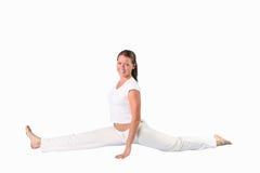 Het meisje van de yoga stock foto