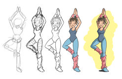 Het meisje van de yoga Stock Afbeeldingen