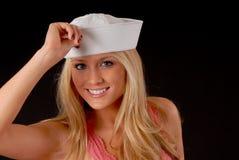 Het Meisje van de zeeman stock fotografie
