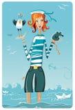 Het meisje van de zeeman Royalty-vrije Stock Afbeelding
