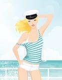 Het meisje van de zeeman (GLB) Stock Fotografie
