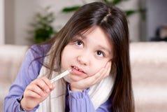 Het meisje van de ziekte Stock Foto