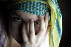 Het meisje van de zigeuner Stock Foto