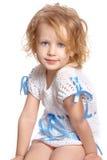 Het meisje van de zitting Stock Fotografie