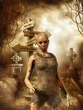 Het meisje van de zombie Royalty-vrije Stock Foto's