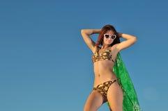 Het meisje van de zomer Stock Foto's