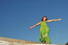 Het meisje van de zomer Royalty-vrije Stock Foto's