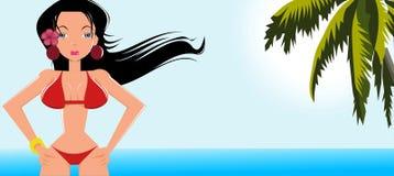 Het meisje van de zomer stock afbeeldingen