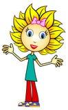 Het Meisje van de zonnebloem vector illustratie