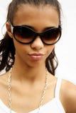Het meisje van de zonnebril Stock Afbeelding