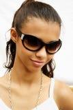 Het meisje van de zonnebril Royalty-vrije Stock Afbeeldingen