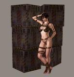 Het Meisje van Distopian Royalty-vrije Stock Afbeelding