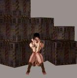Het Meisje van Distopian Royalty-vrije Stock Afbeeldingen