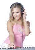 Het meisje van DJ Stock Fotografie