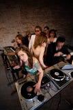 Het Meisje van DJ Stock Foto