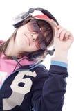 Het meisje van DJ Stock Foto's