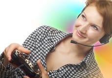 Het meisje van Gamer Stock Afbeeldingen