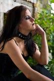 Het Meisje van Goth van het dagdromen stock foto