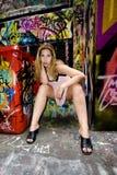 Het Meisje van Graffiti Stock Afbeelding