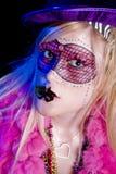 Het Meisje van Gras van Mardi Stock Afbeeldingen