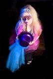 Het Meisje van Gras van Mardi Royalty-vrije Stock Foto