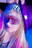 Het Meisje van Gras van Mardi Stock Fotografie